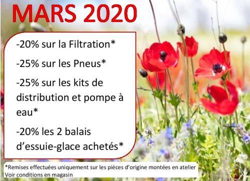 PROMOTIONS MARS 2020