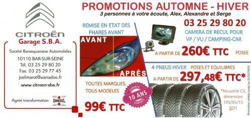 PROMOTIONS AUTOMNE - HIVER